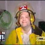 Bekiffter Feuerwehrmann
