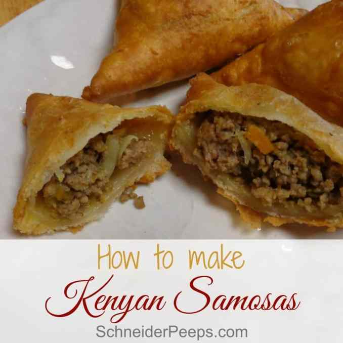 Kenyan Samosa Recipe - with a step by step instructions