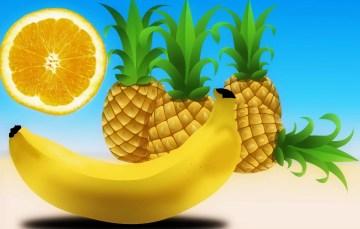 Puten-Curry mit Ananas und Bananen