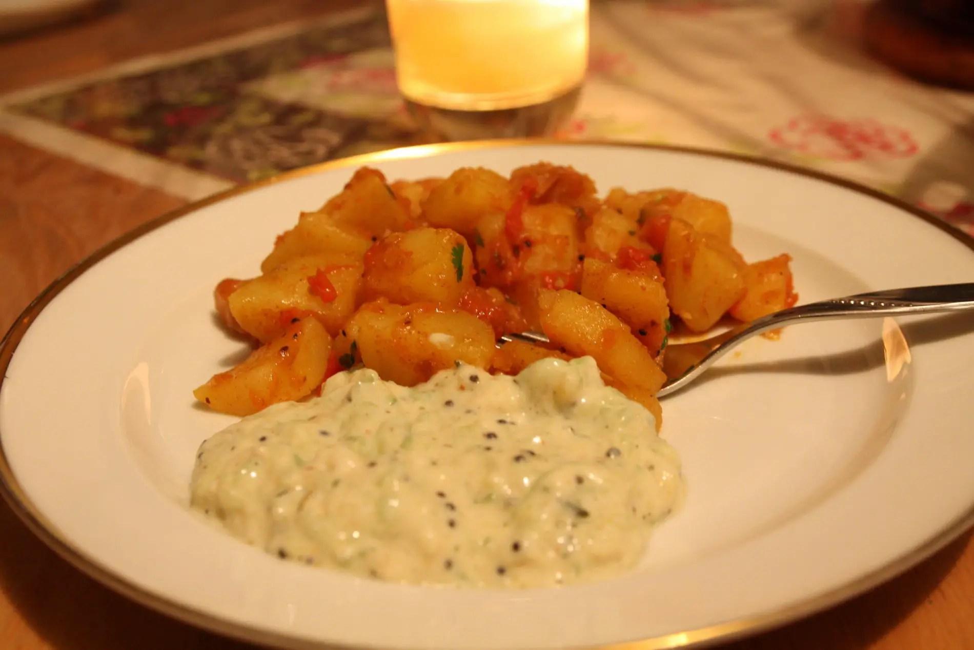 Bombay-Kartoffeln - indisch vegetarisch kochen, Jamie Oliver Rezept