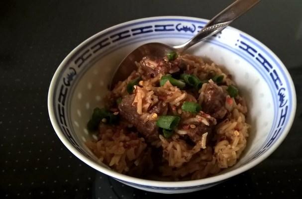 Sehr leckeres Instant-Pot-Rezept: Reisfleisch mit Rindfleisch und Basmati-Reis
