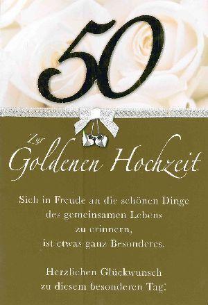 Herzliche Glückwünsche Zur Goldenen Hochzeit