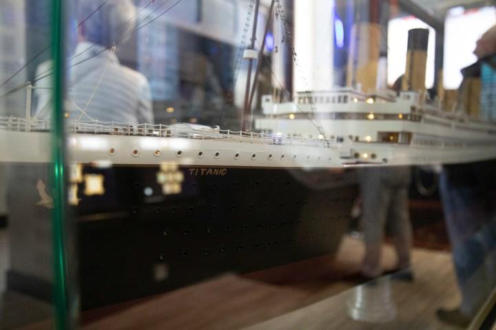 Modell der Titanic in der Titanic Experience in Cobh