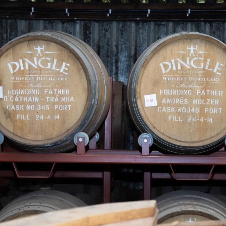Ange Dust - der Anteil für die Engel. In diesen Fässern mit dem markanten Logo muss der Whiskey noch reifen.