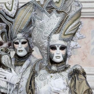 Masken auf dem Zaccaria in Venedig