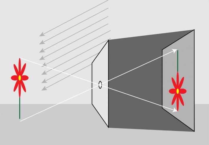 Das Lochkamera-Prinzip