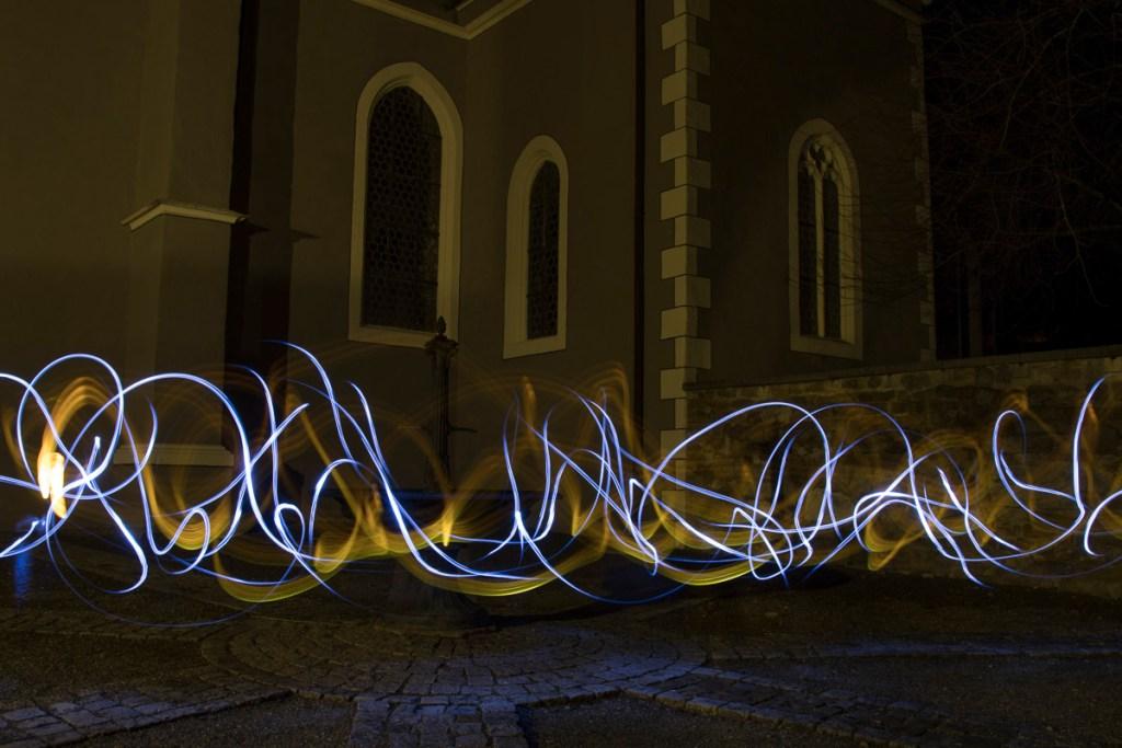 Lightpainting St. Luzen Lichtertanz