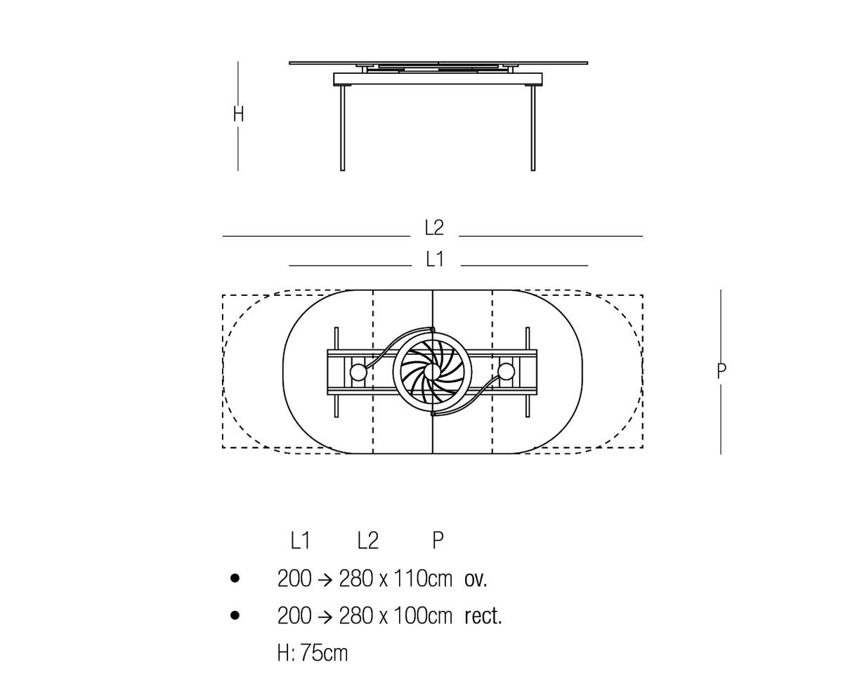 Quasar Dining Table