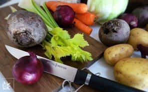 Zutaten für vegetarischen Borschtsch