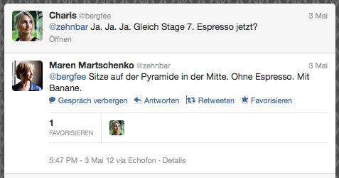 Twitter Verabredung re:publica / @zehnbar @bergfee