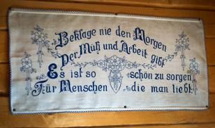 Gestickter Spruch - Almdorf Seinerzeit