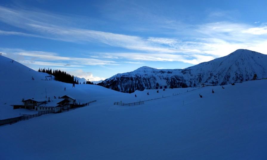 Abendstimmung im Skigebiet