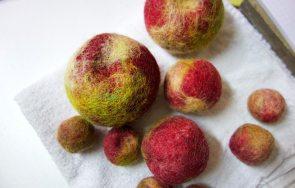 Gefilzte Äpfel