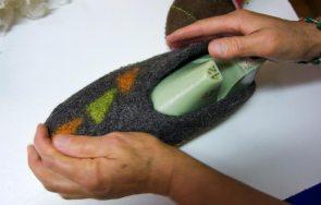 Schuhe filzen – Amorthof Südtirol