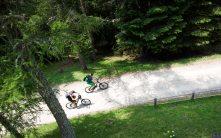 Fahrradfahrer am Vigiljoch