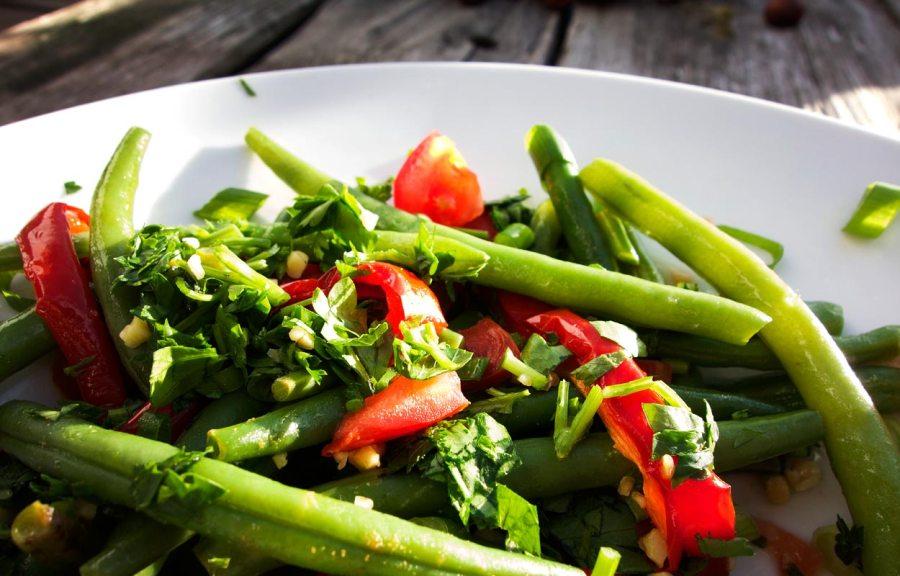 Bohnen Paprika Salat