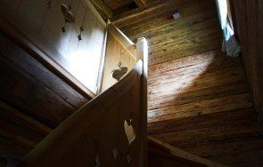 Treppe ins obere Stockwerk
