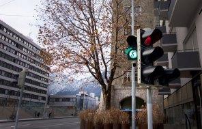 Skateborder - Ampelmännchen Innsbruck