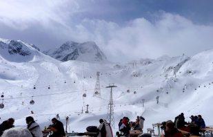 Skitag am Stubaier Gletscher