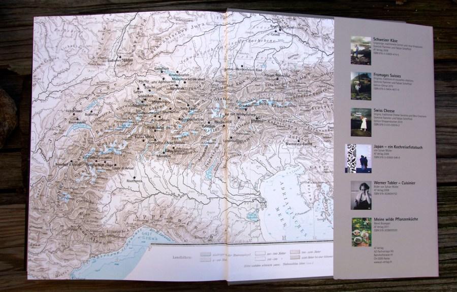 Das kulinarische Erbe der Alpen - Übersichtskarte