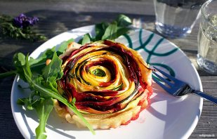 Gemüseschnecke - Vegetarische Tarte