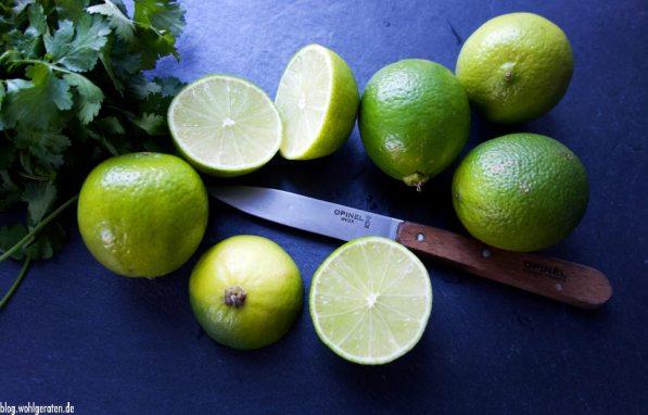 Opinelmesser und Limetten für Ceviche