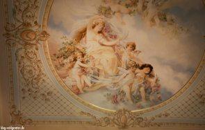 Deckenbemalung Grandhotel Kronenhof Pontresina