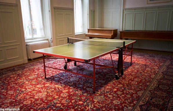 Tischtennisplatte Grandhotel Kronenhof Pontresina