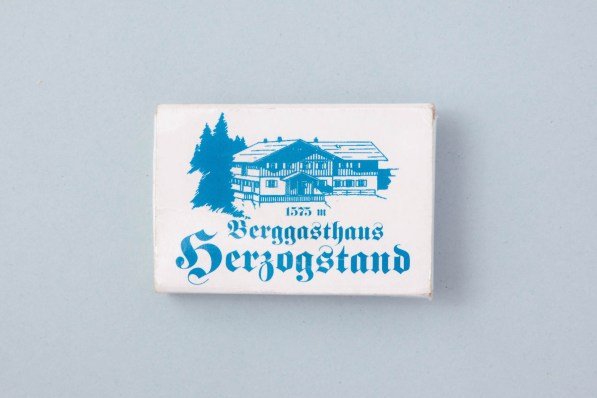 Streichhölzer Berggasthaus Herzogstand Bayern