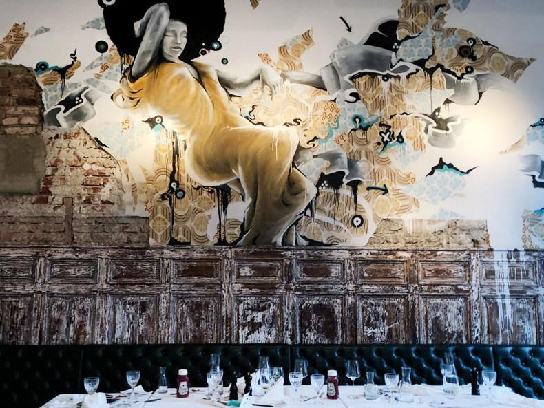 Wandgemälde Speisesaal - Hotel Wiesler - Graz