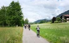 Radweg am Weissensee