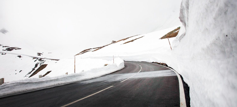 Großglockner Hochalpenstraße im Winter