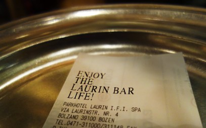 Bon aus der Laurin Bar