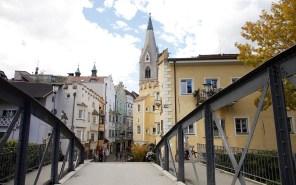 Innenstadt von Brixen mit Blick zum Hotel Goldener Adler