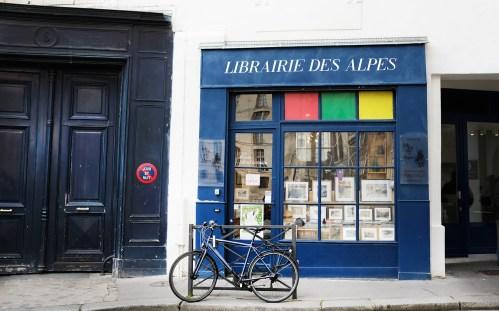 Buchhandlung mit Bergliteratur - Librairie des Alpes