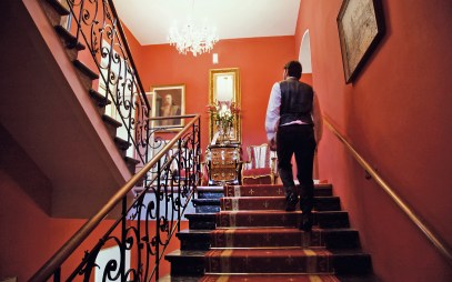Das Treppenhaus der Villa Excelsior