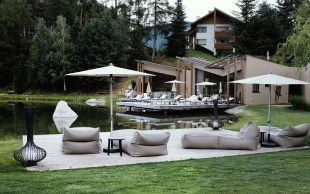 Seehof - Blick zur Sauna