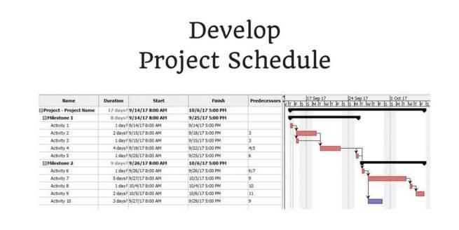 Develop Project Schedule process