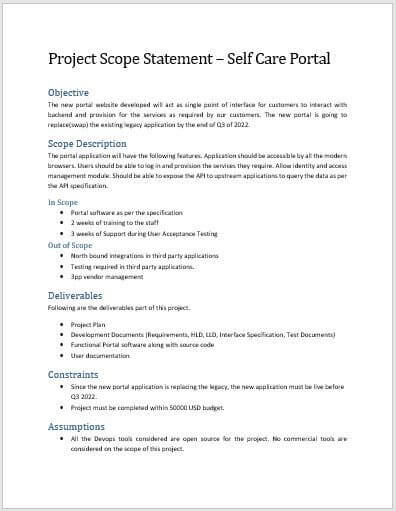 What Is A Scope Statement In Project Management