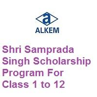 Alkem Foundation Shri Samprada Singh Scholarship Program For Class 1 to 12