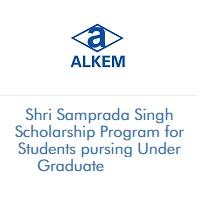 Alkem Foundation Shri Samprada Singh Scholarship Program Under Graduate 2021-2022