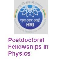 Harish-Chandra Research Institute (HRI) Postdoctoral Fellowships in Physics