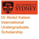University of Sydney Dr Abdul Kalam International Undergraduate Scholarship