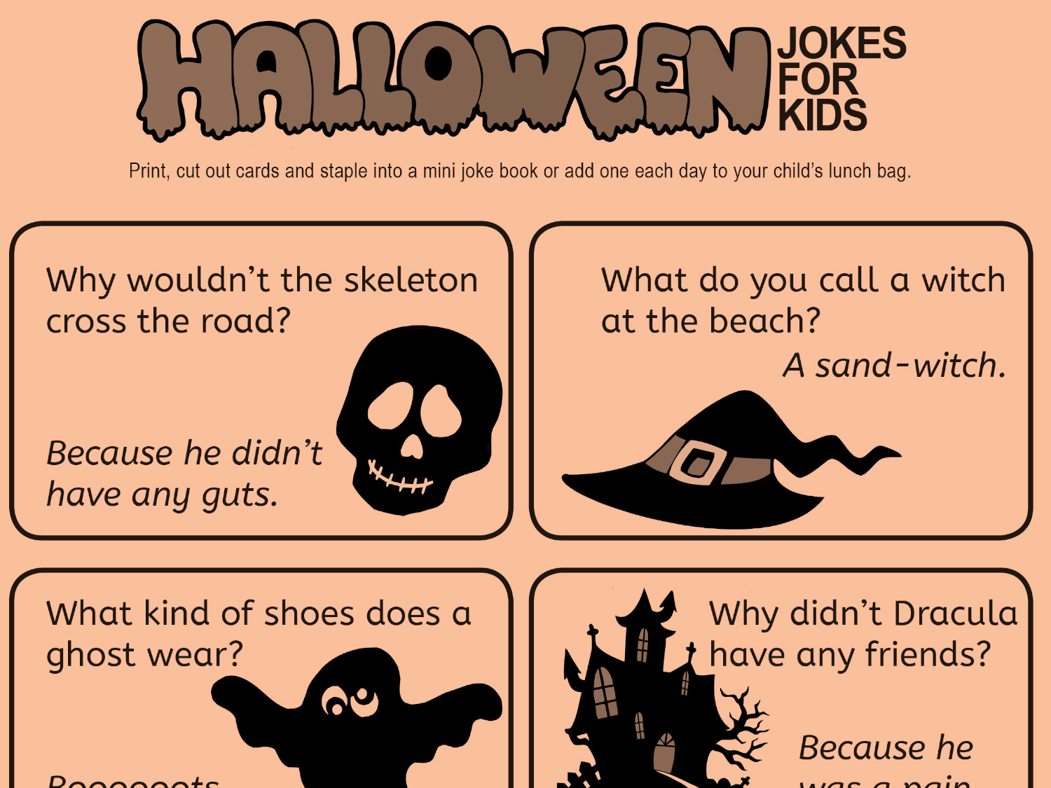 Kid Friendly Jokes For Halloween