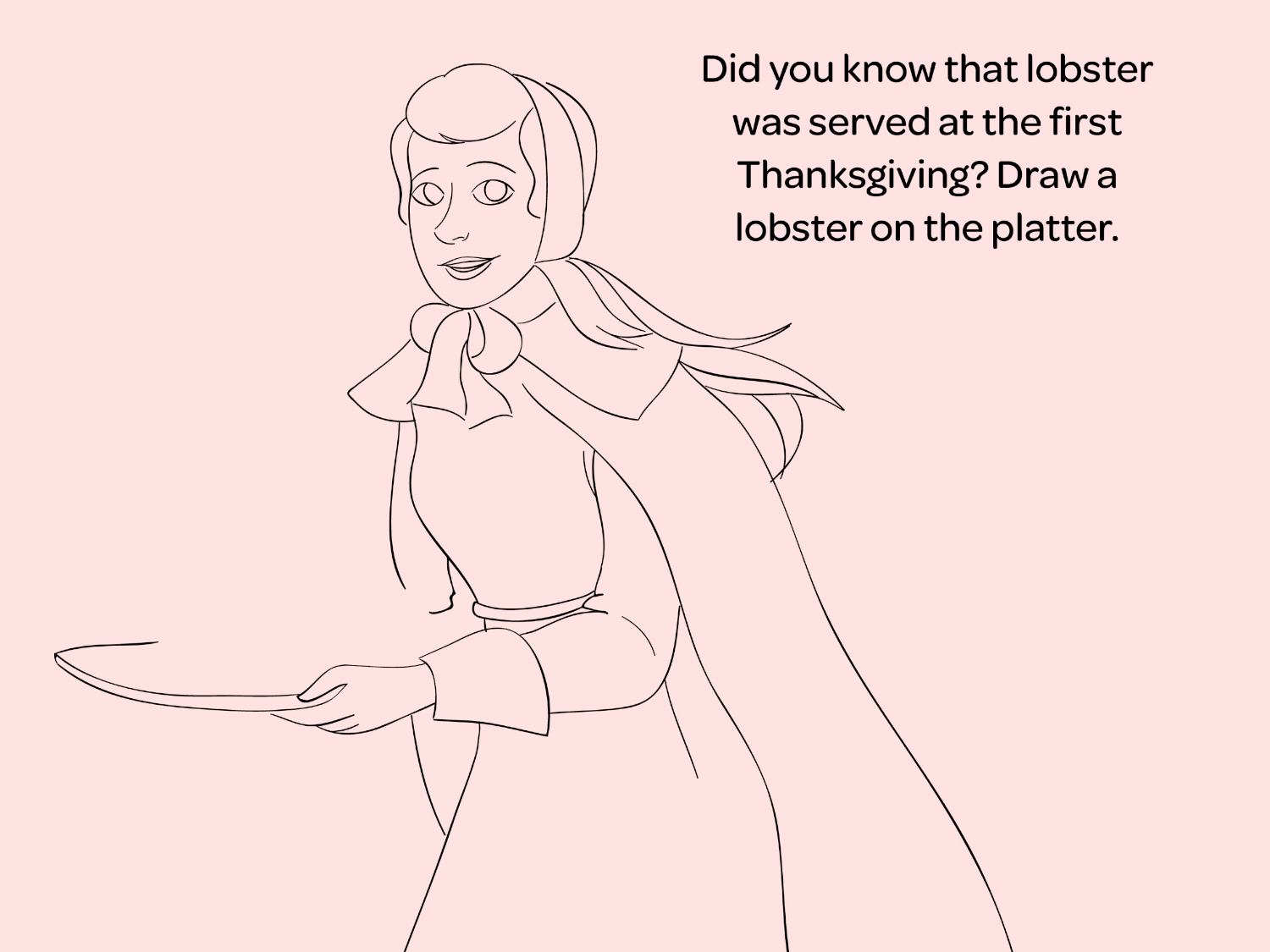 Thanksgiving Printable Coloring Page The First