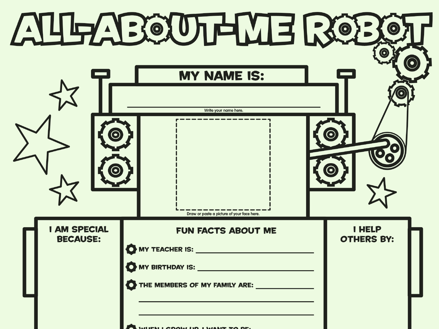 Esl Worksheet All About Me