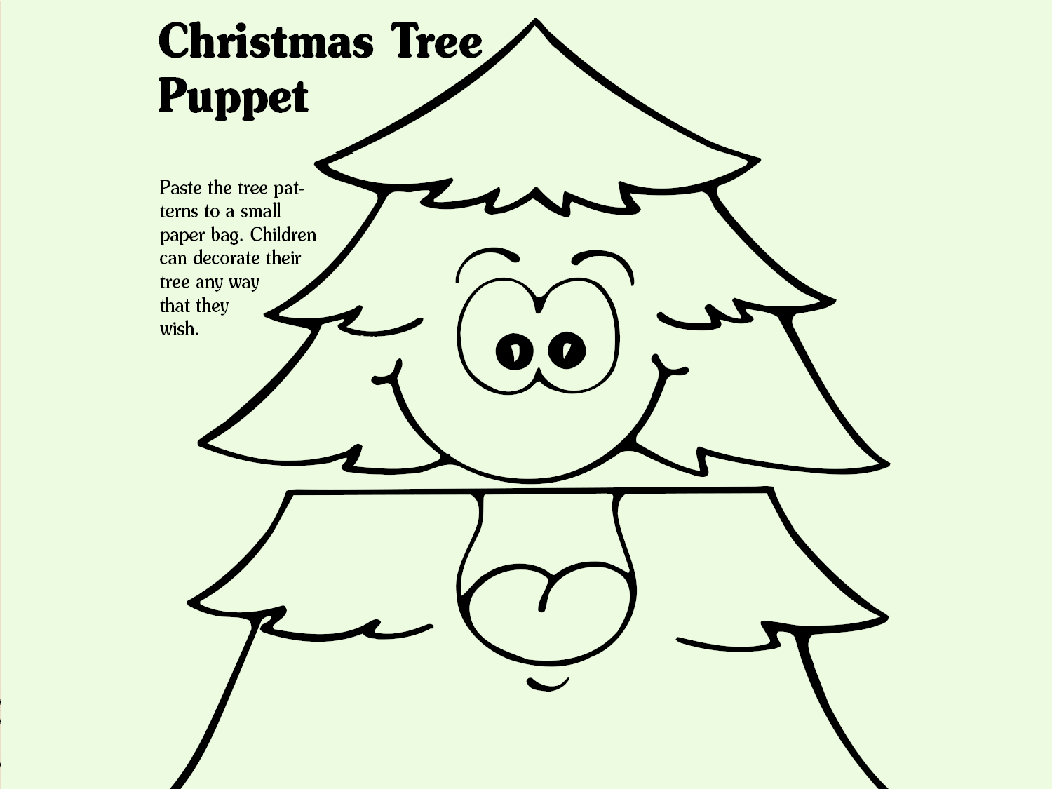 Christmas Tree Puppet