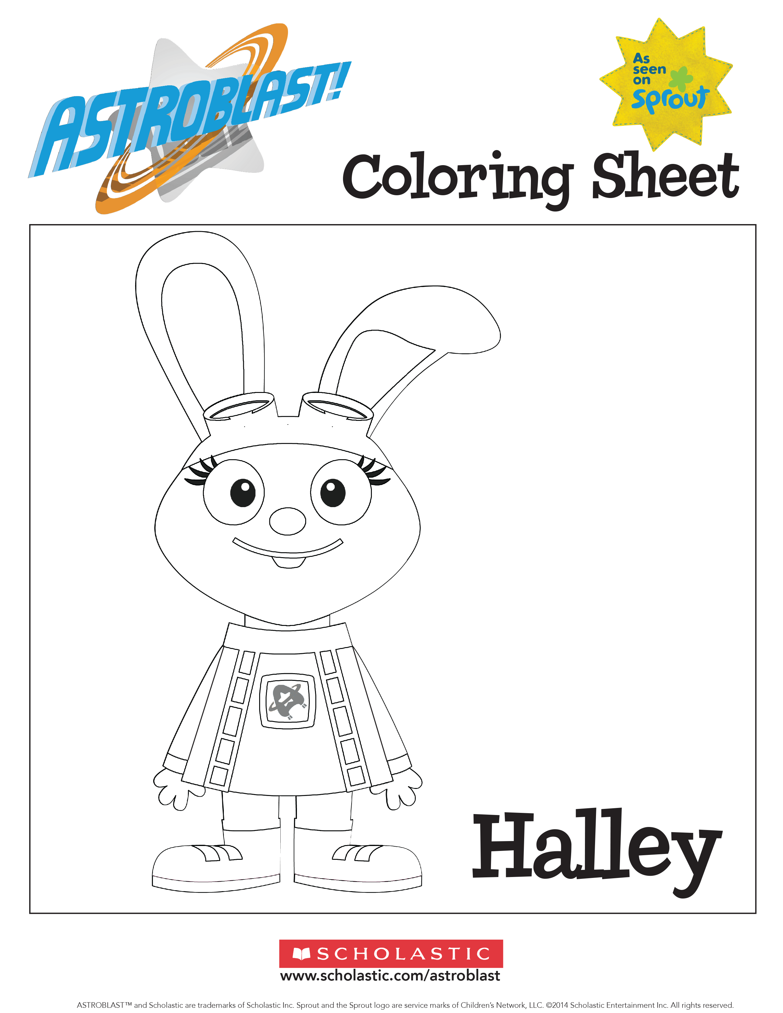 Astroblast Halley Coloring Sheet Worksheets Amp Printables