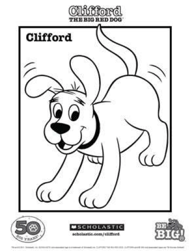 Clifford Coloring Sheet Worksheets Printables Scholastic Parents