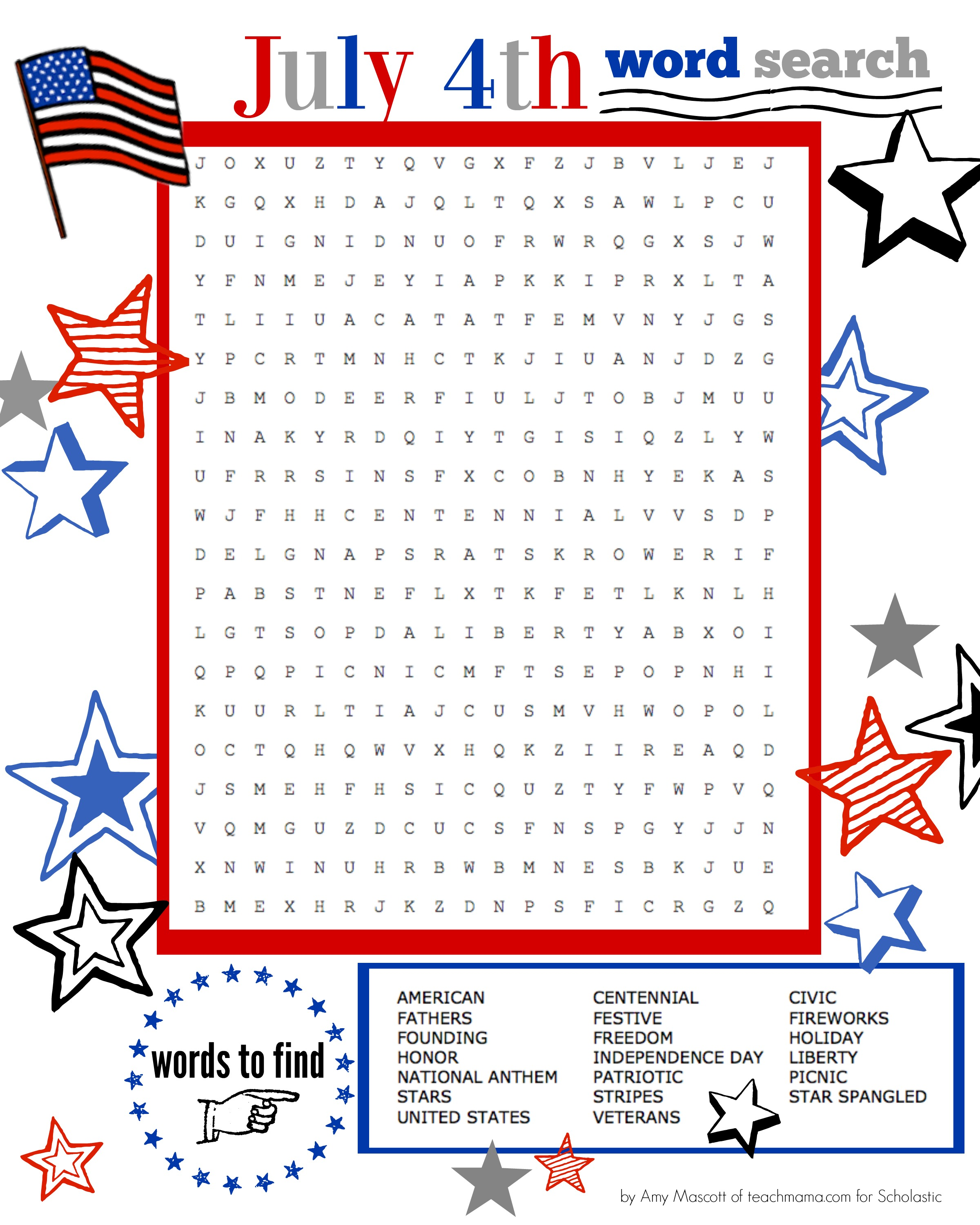 Independence Day Word Search